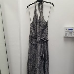 BCBG Max Azria | Animal Print Chiffron Maxi Dress